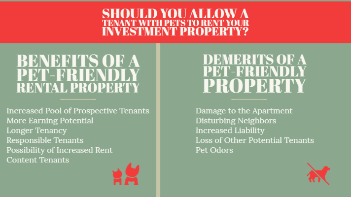 infographic on Should you allow a tenant with pets to rent your investment property