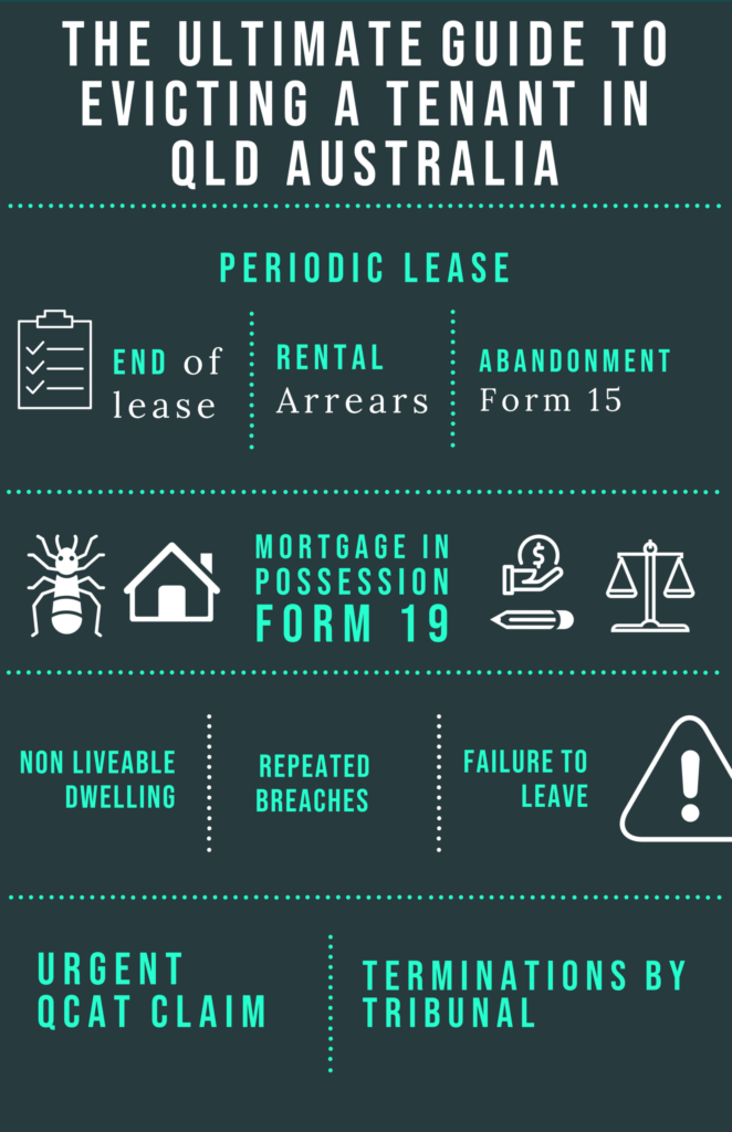 Infographic on how to evict a tenant in QLD Australia