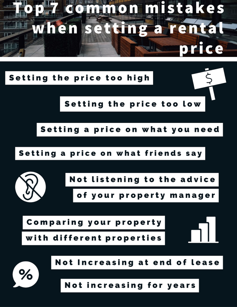Top 7 common mistakes when setting a rental price