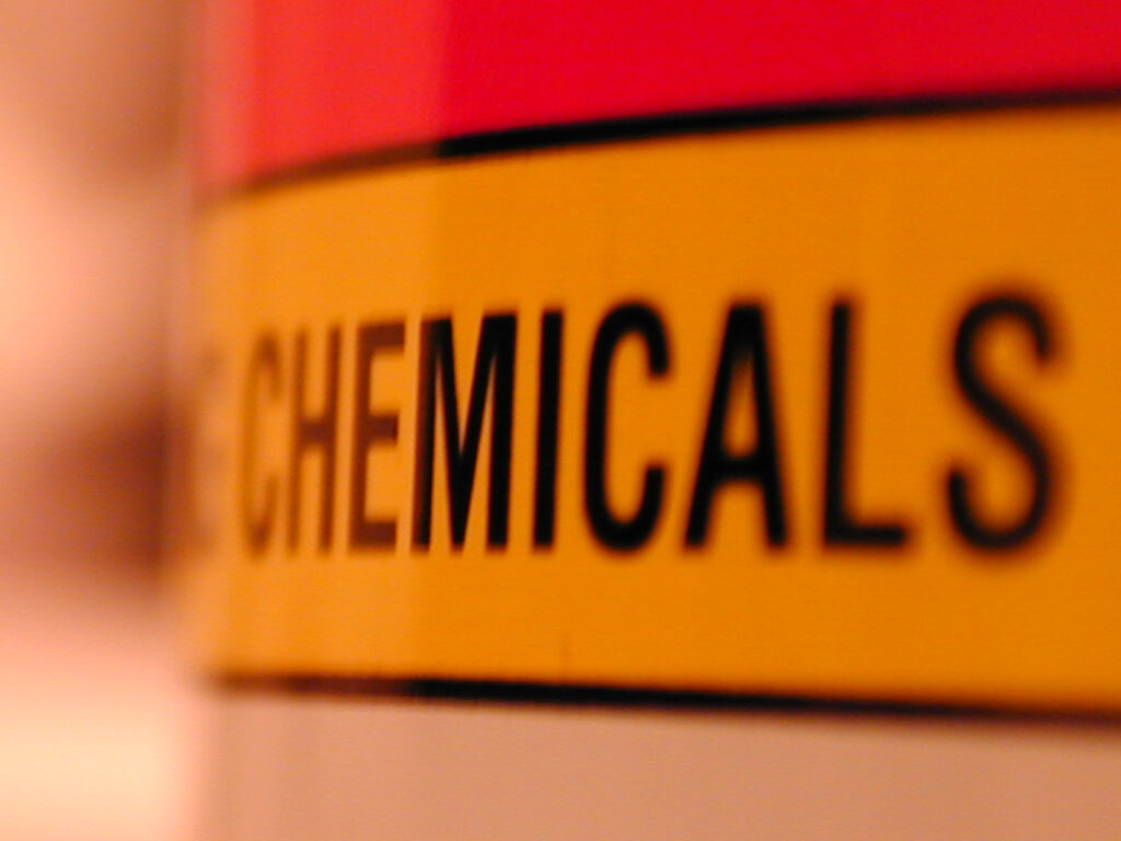 word chemicals on label