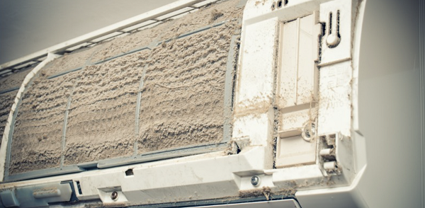 Dusty Air Conditioner Filters