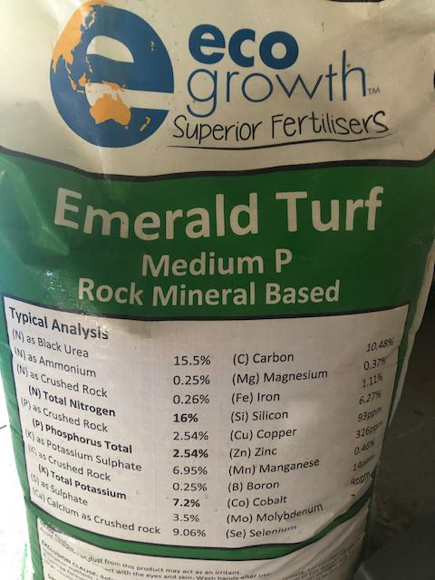 Slow release fertiliser for caring lawns and garden